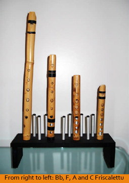 Four Hand-made Sicilian Flutes